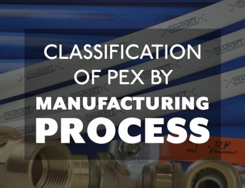Classification of PEX by manufacturing process